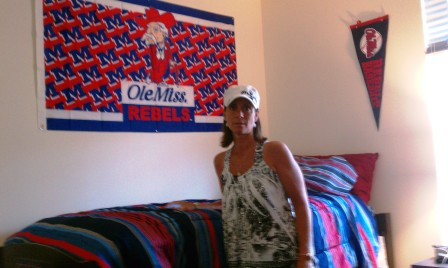 sharon with ole miss rebel flag