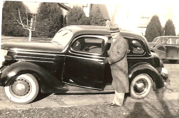 AE Weltner and his 1936 Ford Sedan