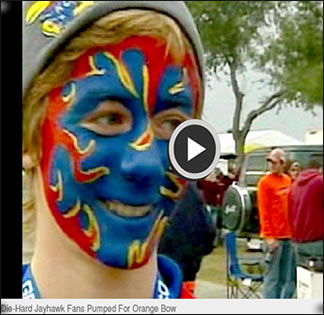 brent weltner tv interview before orange bowl jayhawk game