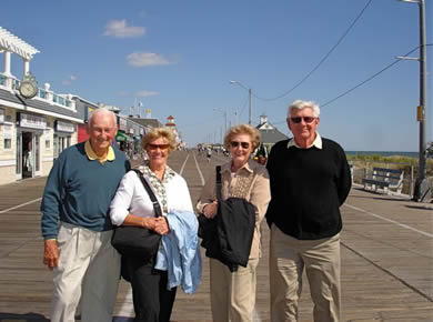 Ed and Sue Weltner on the BoardWalk