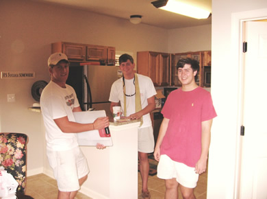left to right Austin Tripp and Brad in kitchen