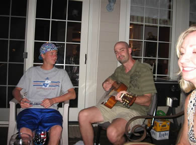 brent and rick playing guitar